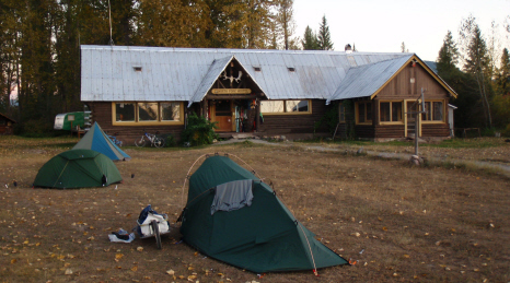 The fantastic North Fork Hostel where we spent 2 great nights (camping).